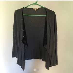 Gray Urban Outfitters cardigan with sequins